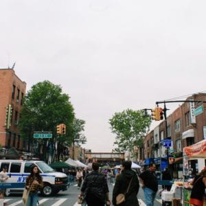 A street market in Queens